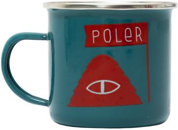 Poler Camp Mug Classic Enamel Camping Cup, 414ml Blue