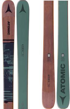 Atomic PUNX 7 Ski Only Skis, 176cm Green/Brown