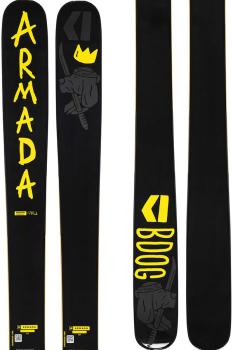 Armada Adult Unisex Bdog Skis 180cm, Black/Yellow, Ski Only, 2022