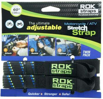 Rok Motorcycle & ATV Adjustable Cargo Straps, Stripes