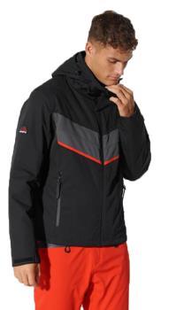 Superdry Racer Motion Insulated Ski/Snowboard Jacket L Black