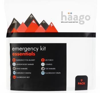 Haago  Emergency Essentials  Outdoor Travel Safety Kit, White
