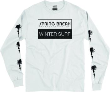 Capita Spring Break Winter Surf Long Sleeve T-Shirt, M White