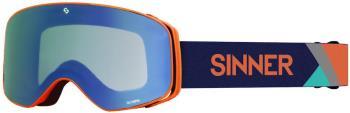 Sinner Olympia Full Blue Ski/Snowboard Goggles, L Matte Orange