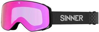 Sinner Olympia + Pink Sintrast Ski/Snowboard Goggles, M Matte Black