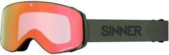 Sinner Olympia + Orange Sintrast Ski/Snowboard Goggles, M Moss Green