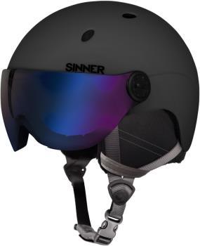 Sinner Titan Visor Blue Mirror Ski/Snowboard Helmet S Matte Black