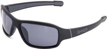 Sinner Ros X Smoke Flash Mirror Wrap Around Sunglasses, Matte Black