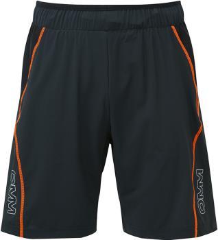 OMM Pace Men's Running Shorts, S Black/Orange