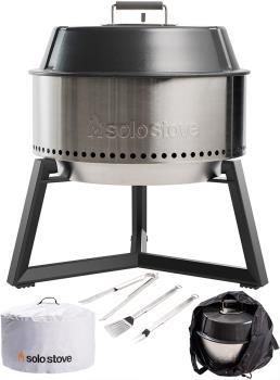 Solo Stove Grill Bundle Portable BBQ & Firepit Set, Silver