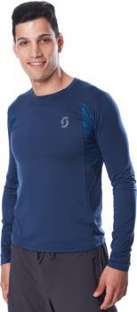 Scott Trail Run L/SL Long Sleeve Running T-Shirt, L Midnight Blue