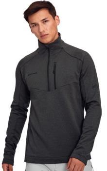 Mammut Nair Mid Layer Men's Half-Zip Pullover, M Black Mélange