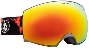 Volcom Magna Red Chrome Ski/Snowboard Goggles, M/L Smoke