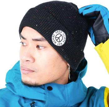 Planks Adult Unisex Peace Ski/Snowboard Beanie, One Size New Black