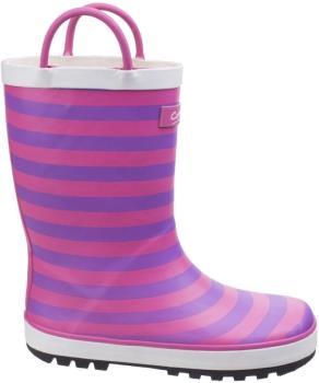 Cotswold Captain Stripy Kids' Wellington Boots, UK Child 7 Pink