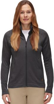 Mammut Nair Mid Layer Jacket Women's Fleece, S Black Mélange