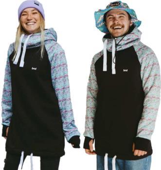 bro! Chill N'shred Unisex Ski/Snowboard Hoodie, L Bronuts Turquoise