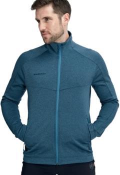 Mammut Nair Mid Layer Men's Full-Zip Fleece Jacket M Sapphire Mélange