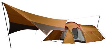 Snow Peak Entry Pack TT Tarp & Tent Family Camping Combo, 4-Man