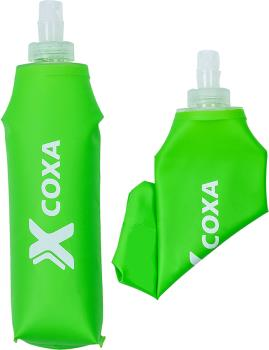 Coxa Carry Softflask 500 Compactable Hydration Bottle, 500ml Green