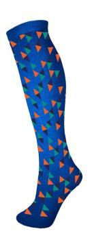 Manbi Pattern Ski/Snowboard Tube Socks, UK 4-11 Triangles Blue