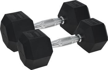 Urban Fitness Equipment Rubber Coated Pro Hex Dumbbells, 10KG Black