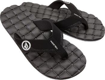 Volcom Recliner Flip Flops Open Toe Sandals, UK 7 Black/White