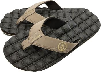Volcom Recliner Flip Flops Open Toe Sandals, UK 7 Khaki
