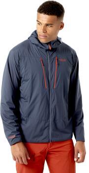 Rab Vapour-Rise Alpine Light Hooded Softshell Jacket, M Steel