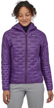 Patagonia Womens Women's Micro Puff Hoody Insulated Jacket, Uk 14 Purple