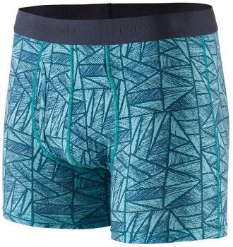 """Patagonia Essential Boxer Briefs 3"""" Underwear, S Icy Geo"""