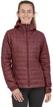 Patagonia Nano Puff Hoody Women's Insulated Jacket UK 12 Dark Ruby