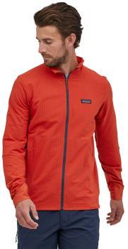 Patagonia R1 TechFace Softshell Jacket, L Hot Ember