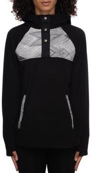 686 Hemlock Women's Fleece Hoody, L Geo Colourblock