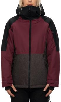 686 Lightbeam Women's Snowboard/Ski Jacket, S Plum Colorblock