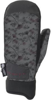 686 Crush Women's Snowboard/Ski Mitt, M Charcoal X-Ray Floral