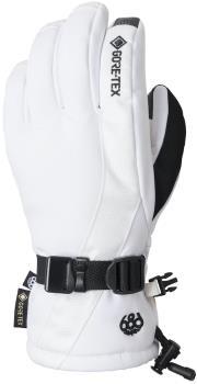 686 GORE-TEX Linear Women's Snowboard/Ski Gloves, M White