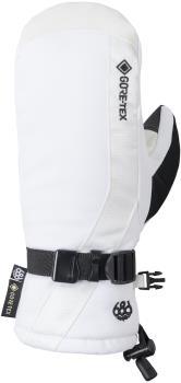 686 GORE-TEX Linear Women's Snowboard/Ski Mitts, S White