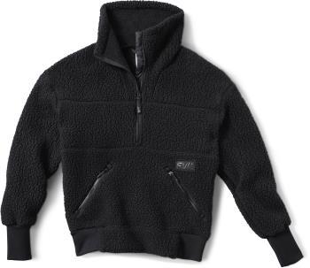 FW Root Pillow Women's Pullover Midlayer Fleece, L Slate Black