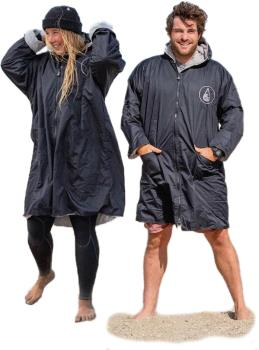 WAVE HAWAII Storm Poncho Dressing Dry Robe Towel, Medium Biso