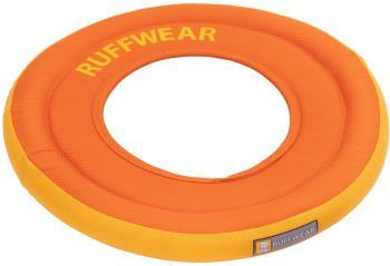 Ruffwear Hydro Plane Floating Dog Frisbee Toy, L Campfire Orange