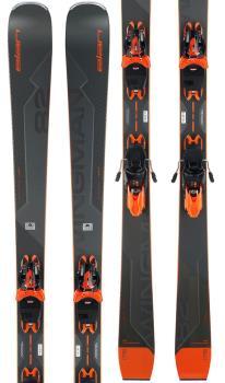 Elan Wingman 82Ti Powershift ELX 11GW Skis, 178cm Grey/Orange