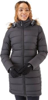 Rab Deep Cover Women's Insulated Parka Jacket, UK 14 Black