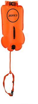 Zone3 Swim Buoy / Dry Bag Tow Float, 28L High Vis Orange