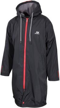 Zone3 Polar Fleece Parka Robe Jacket Changing Towel, XL Black/Grey