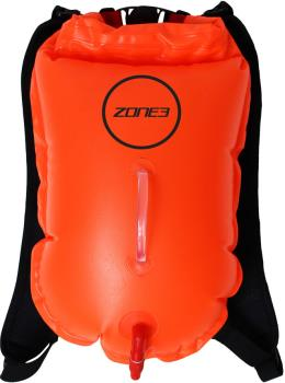 Zone3 Backpack Swim Safety Buoy Tow Float Dry Bag, 28L Orange