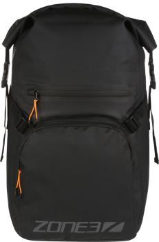 Zone3 Waterproof Backpack Roll Top Dry Bag, 25L Black/Grey