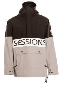 Sessions Chaos Pullover Ski/Snowboard Jacket, XL Black