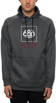 686 Bonded Fleece Men's Pullover Hoodie, L Charcoal Heather Japan