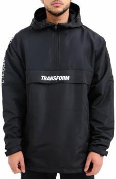 Transform Fast Text Windbreaker Ski/Snowboard Anorak, L White